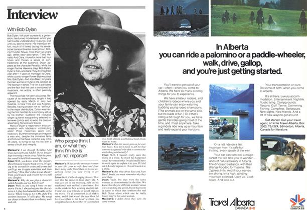 Article Preview: With Bob Dylan, March 1978 | Maclean's