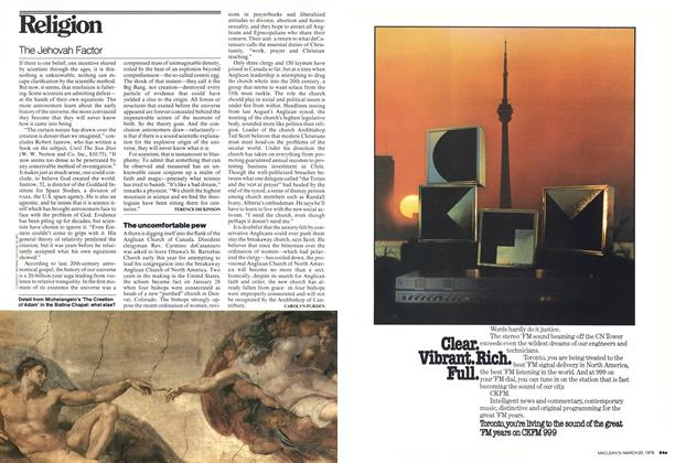 Article Preview: The uncomfortable pew, March 1978 | Maclean's