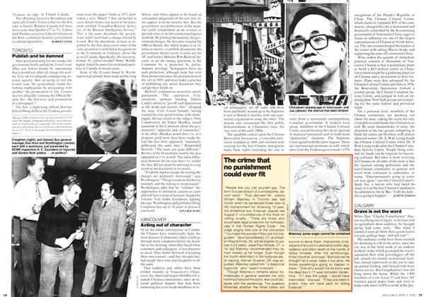 Article Preview: Publish and be damned, April 1978 | Maclean's