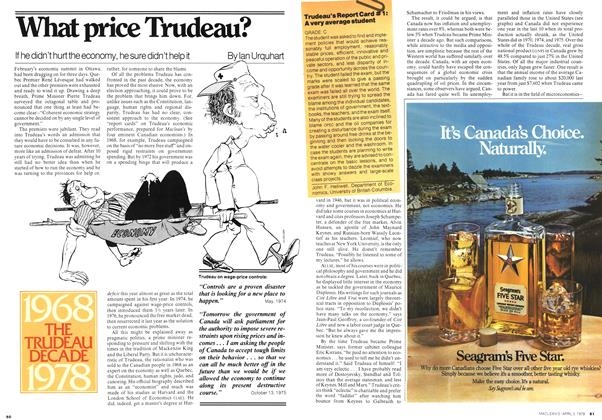 Article Preview: What price Trudeau?, April 1978 | Maclean's