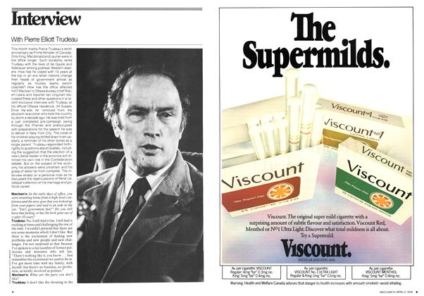 Article Preview: With Pierre Elliott Trudeau, April 1978 | Maclean's