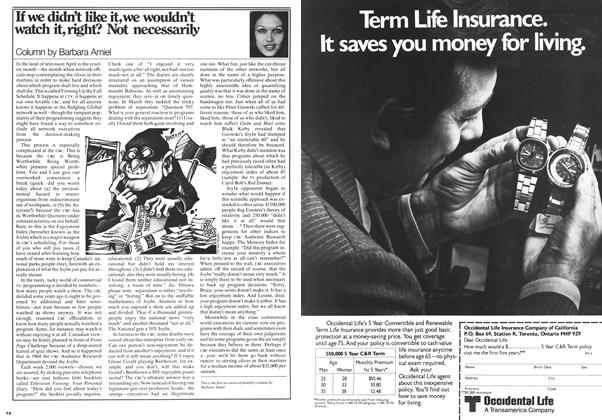 Article Preview: If we didn't like it, we wouldn't watch it, right? Not necessarily, April 1978 | Maclean's