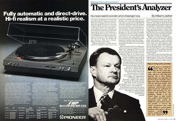Article Preview: The President's Analyzer, April 1978 | Maclean's