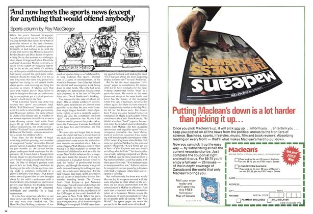 Article Preview: And now here's the sports news (except for anything that would offend anybody)', April 1978 | Maclean's