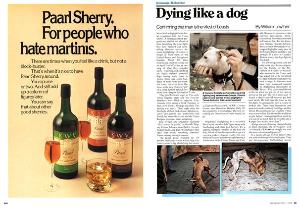 Article Preview: Dying like a dog, May 1978 | Maclean's