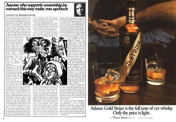 Article Preview: Anyone who supports censorship, be warned: this may make you upchuck, May 1978 | Maclean's
