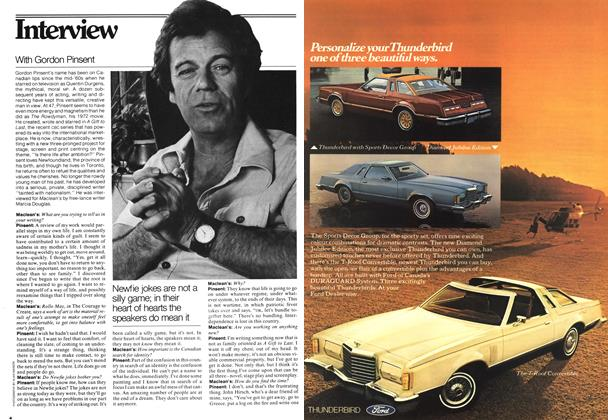Article Preview: With Gordon Pinsent, May 1978 | Maclean's