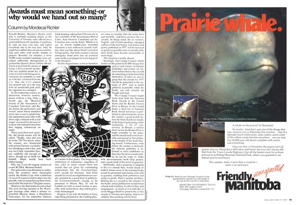 Article Preview: Awards must mean something-or why would we hand out so many?, May 1978 | Maclean's