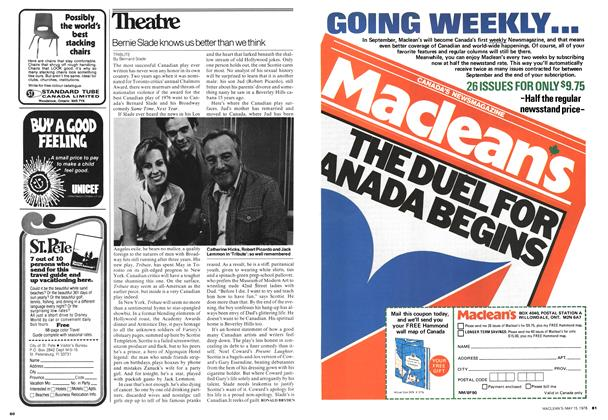 Article Preview: Bernie Slade knows us better than we think, May 1978 | Maclean's