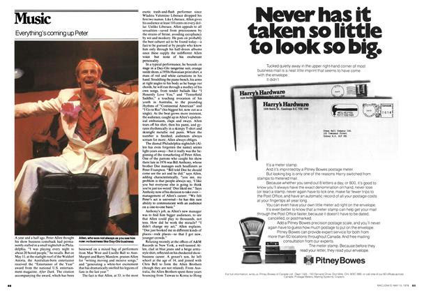 Article Preview: Everything's coming up Peter, May 1978 | Maclean's