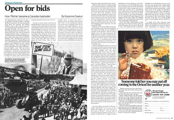 Article Preview: Open for bids, May 1978 | Maclean's