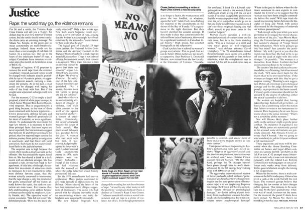 Article Preview: Rape: the word may go, the violence remains, May 1978 | Maclean's
