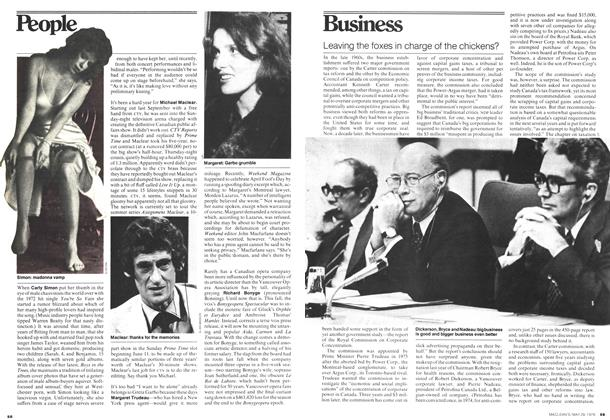 Article Preview: Leaving the foxes in charge of the chickens?, May 1978 | Maclean's