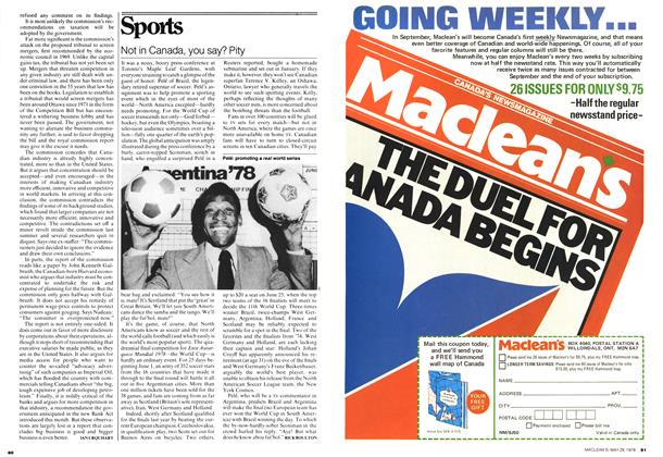 Article Preview: Not in Canada, you say? Pity, May 1978 | Maclean's