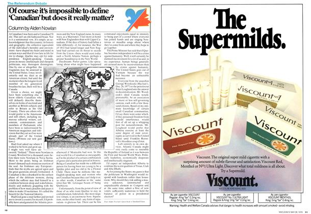 Article Preview: Of course it's impossible to define 'Canadian' but does it really matter?, May 1978 | Maclean's
