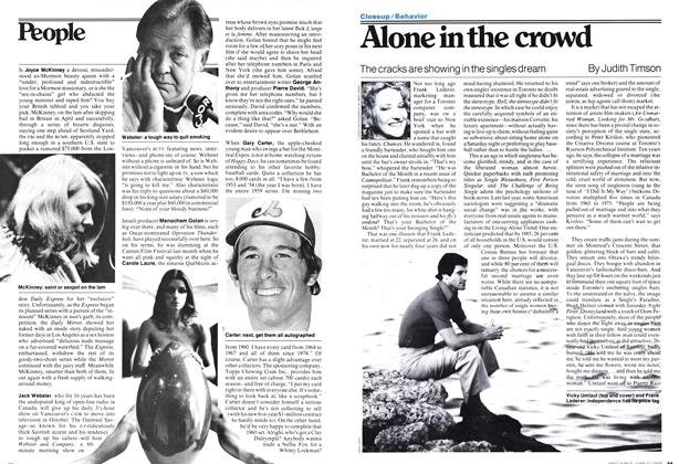 Article Preview: Alone in the crowd, June 1978 | Maclean's