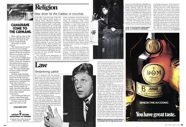 Article Preview: New driver for the Cadillac of churches, June 1978 | Maclean's