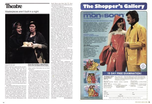 Article Preview: Masterpieces aren't built in a night, June 1978 | Maclean's