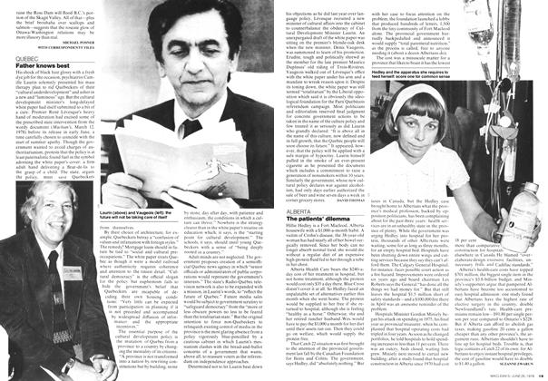 Article Preview: The patients' dilemma, JUNE 26,1978 1978 | Maclean's