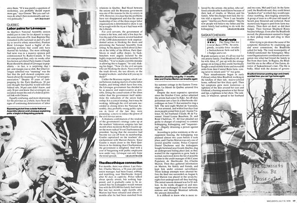 Article Preview: Labor pains for Lévesque, July 1978 | Maclean's