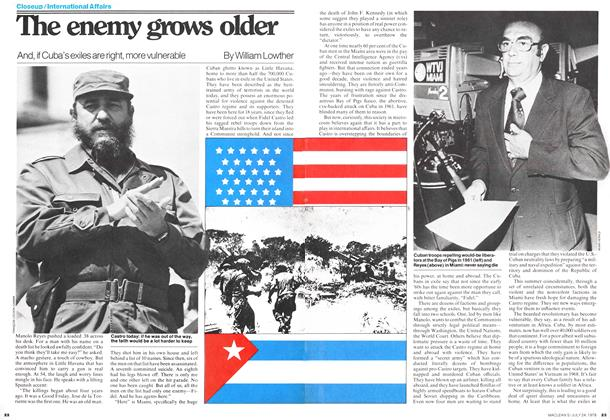 Article Preview: The enemy grows older, July 1978 | Maclean's
