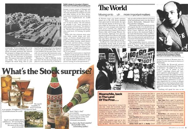 Article Preview: Moving on to . . . uh . . . more important matters, July 1978 | Maclean's