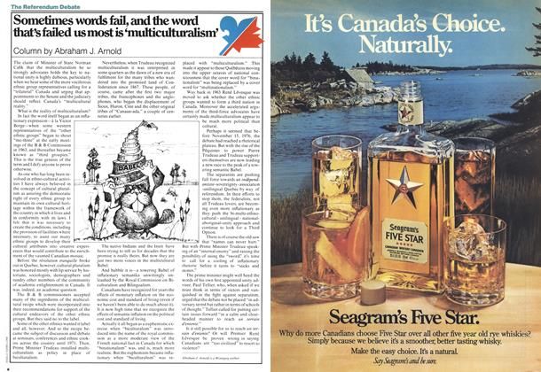Article Preview: Sometimes words fail, and the word that's failed us most is 'multiculturalism', July 1978 | Maclean's