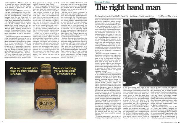 Article Preview: The right hand man, August 1978 | Maclean's