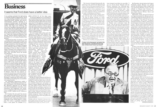 Article Preview: It seems that Ford does have a better idea, August 1978 | Maclean's