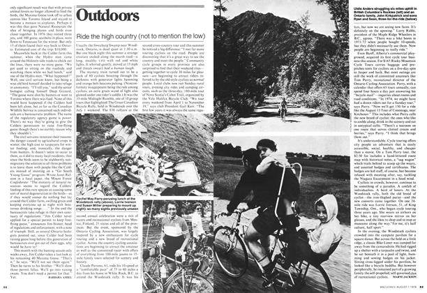 Article Preview: Ride the high country (not to mention the low), August 1978 | Maclean's