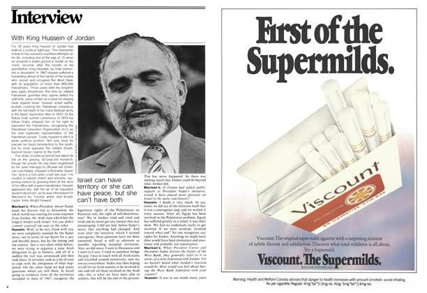 Article Preview: With King Hussein of Jordan, August 1978 | Maclean's