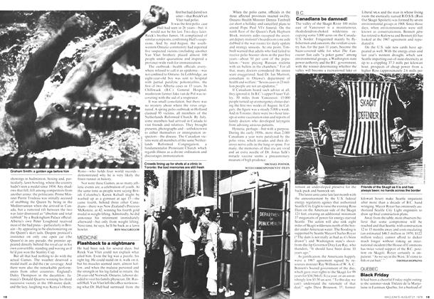 Article Preview: Flashback to a nightmare, August 1978 | Maclean's