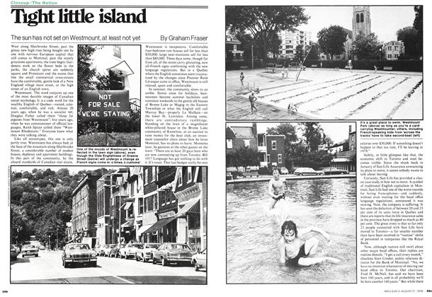Article Preview: Tight little island, August 1978 | Maclean's