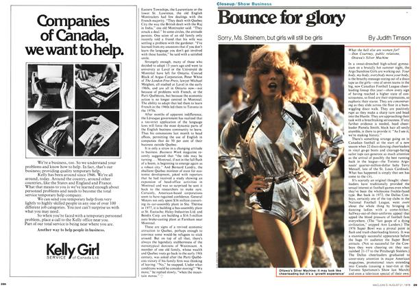 Article Preview: zBounce for glory, August 1978 | Maclean's