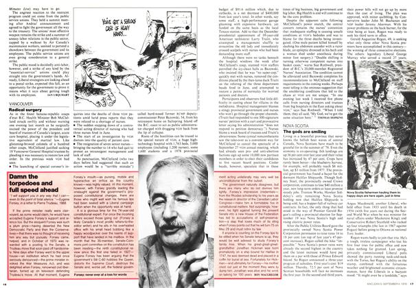 Article Preview: Damn the torpedoes and full speed ahead, September 1978 | Maclean's