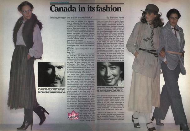 Article Preview: Canada in its fashion, September 1978 | Maclean's