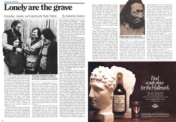 Article Preview: Lonely are the grave, September 1978 | Maclean's
