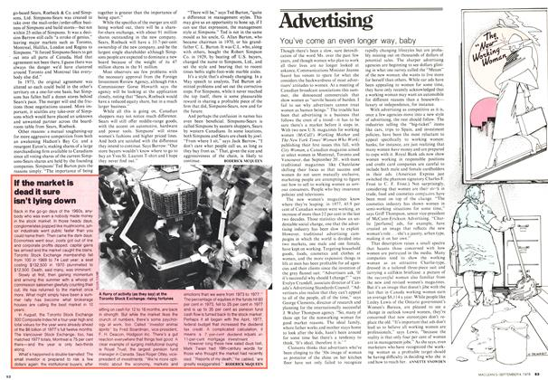 Article Preview: If the market is dead it sure isn't lying down, September 1978 | Maclean's