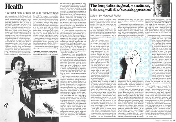 Article Preview: The temptation is great, sometimes, to line up with the 'sexual oppressors', September 1978 | Maclean's