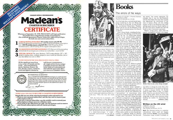 Article Preview: Written on the (ill) wind, September 1978 | Maclean's