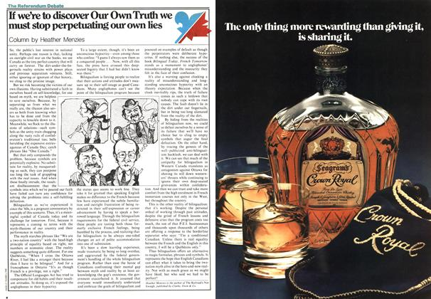 Article Preview: If we're to discover Our Own Truth we must stop perpetuating our own lies, September 1978 | Maclean's
