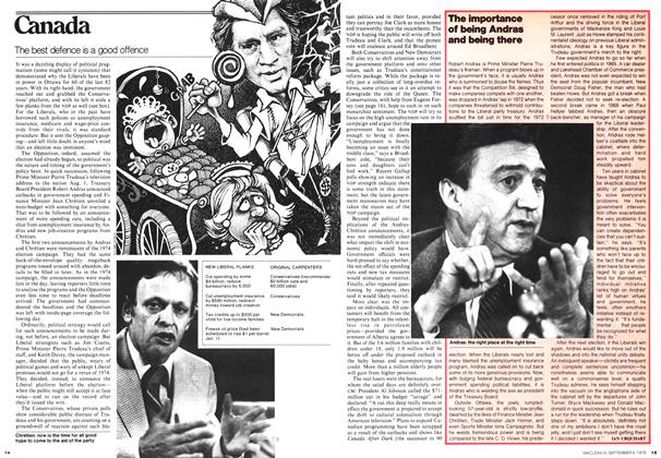 Article Preview: The importance of being Andras and being there, September 1978 | Maclean's