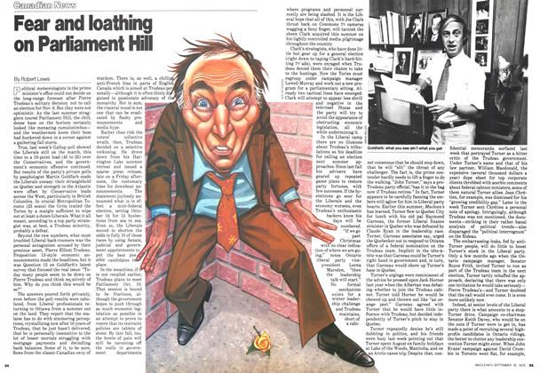Article Preview: Fear and loathing on Parliament Hill, September 1978 | Maclean's