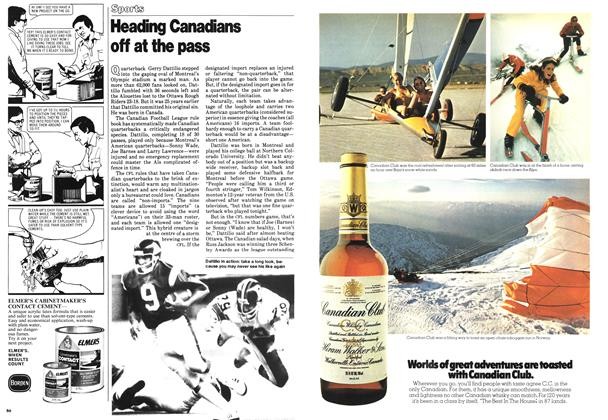 Article Preview: Heading Canadians off at the pass, September 1978 | Maclean's
