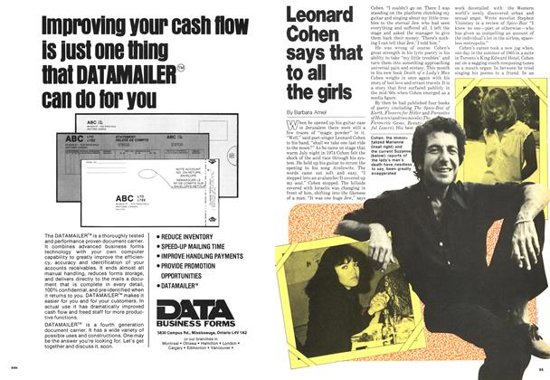 Article Preview: Leonard Cohen says that to all the girls, September 1978 | Maclean's