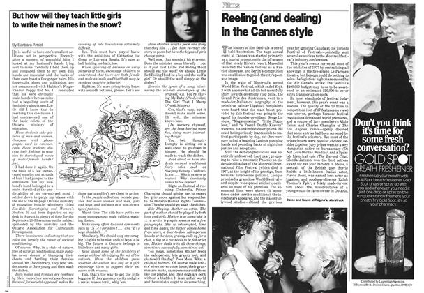 Article Preview: But how will they teach little girls to write their names in the snow?, September 1978 | Maclean's