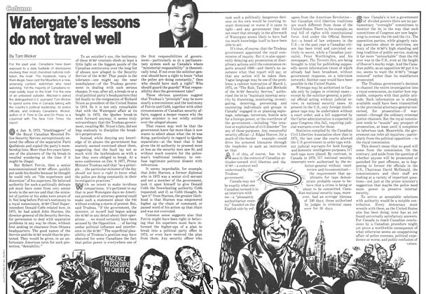 Article Preview: Watergate's lessons do not travel well, September 1978 | Maclean's