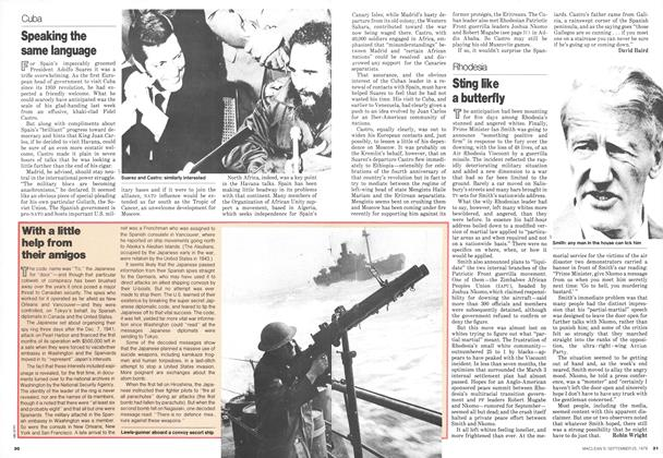 Article Preview: Sting like a butterfly, September 1978 | Maclean's