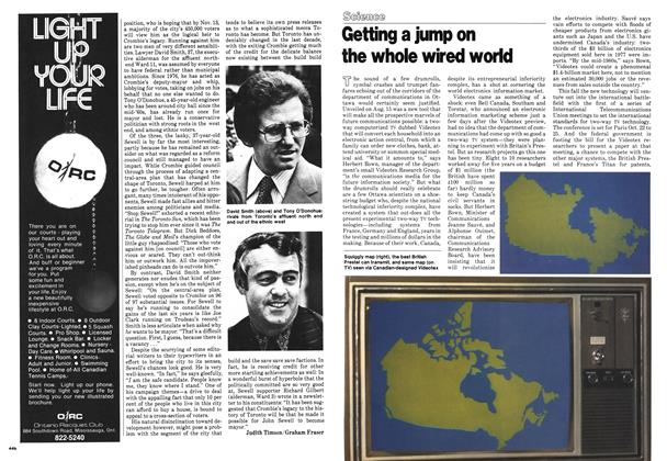 Article Preview: Getting a jump on the whole wired world, September 1978 | Maclean's