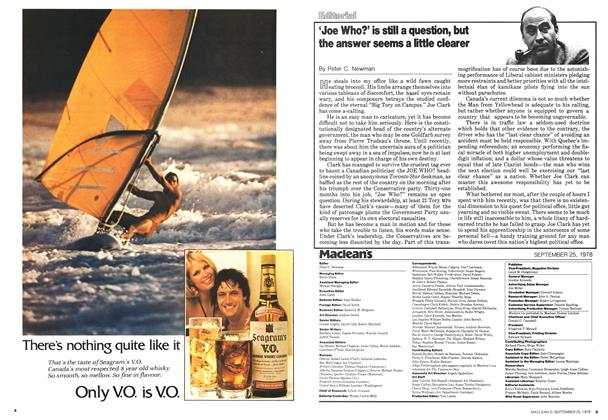 Article Preview: 'Joe Who?' is still a question, but the answer seems a little clearer, September 1978 | Maclean's
